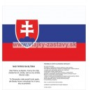 Preambula Ústavy SR, vlajka s textom hymny