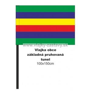 Vlajka obecná základná pruhovaná 100x150cm