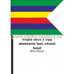 Vlajka obecná, ukončenie lastovičí chvost 80x120cm