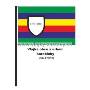 Vlajka obecná s erbom 80x120cm
