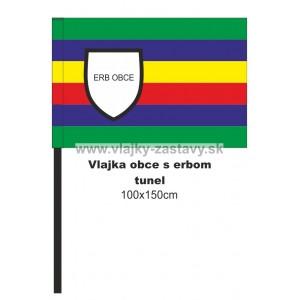 Vlajka obecná s erbom 100x150cm