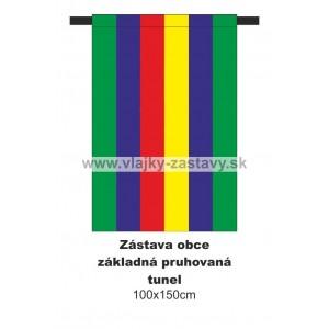 Zástava obecná základná pruhovaná 80x120cm