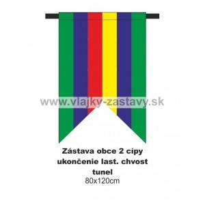 Zástava obecná, ukončenie lastovičí chvost 80x120cm