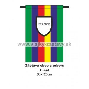 Zástava obecná s erbom 80x120cm