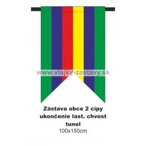 Zástava obecná, ukončenie lastovičí chvost 100x150cm